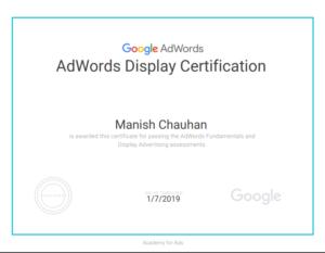 Adwods display certification 1