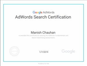 Adword search certification