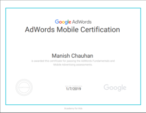 Adwords mobile certification 1