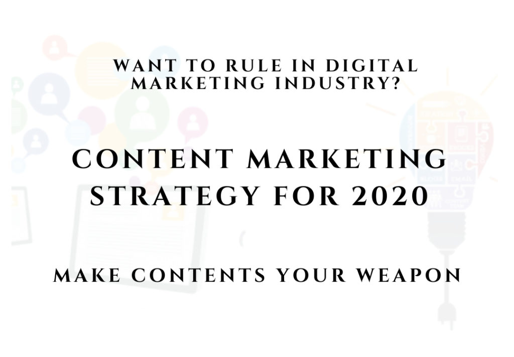 Content marketing strategy for 2020