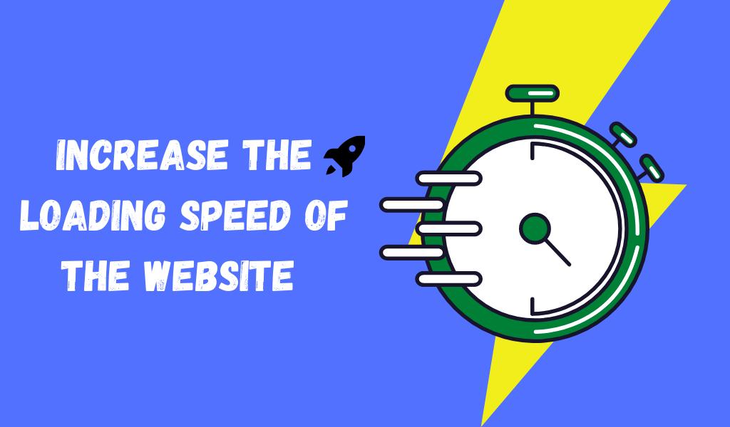 increase website speed - SEO